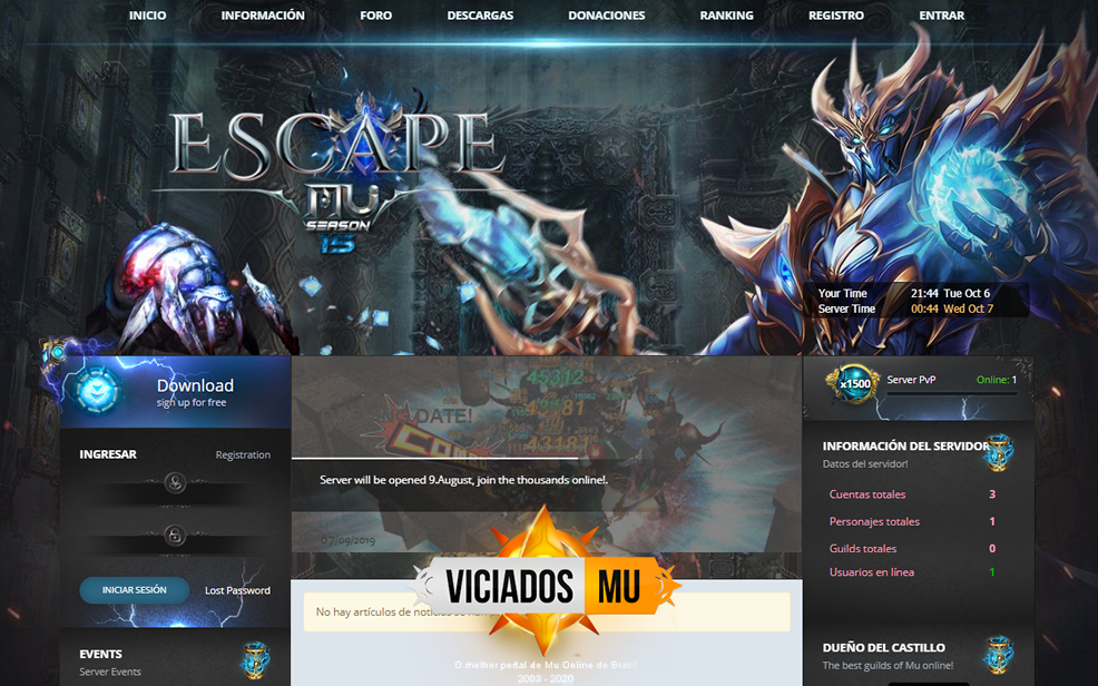 <h1>Web Dkart Studios 2020, MuScape Season 15 para mu online gratis, Template web Engine 2020 para Mu Online, baixe gratis em link direto ViciadosMU</h1>