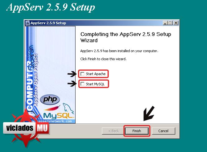 Configurando appserv para deixar seu site on Appserv7