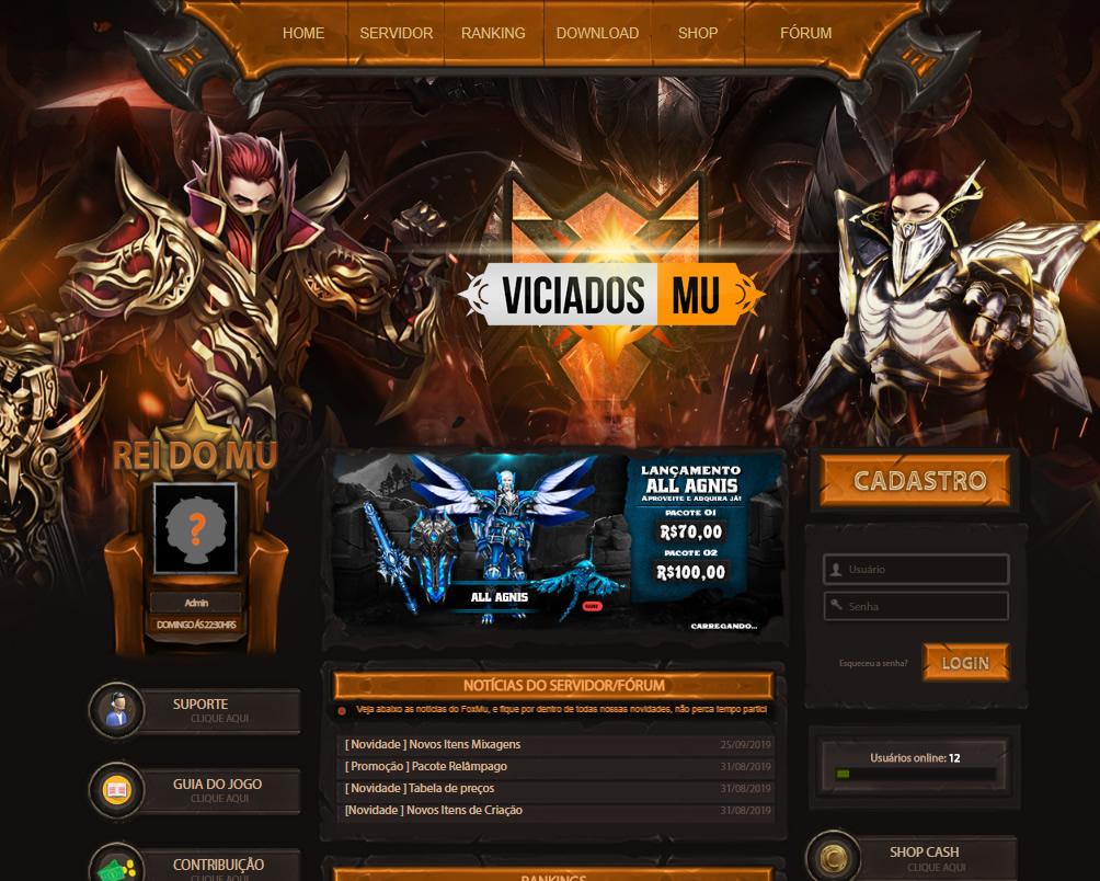 - Template Mu Online Morpheus Fox 4.0,  ; Mu Online Free download, inscreva-se em nosso canal no youtube e aproveite para participar do discord galera viciados